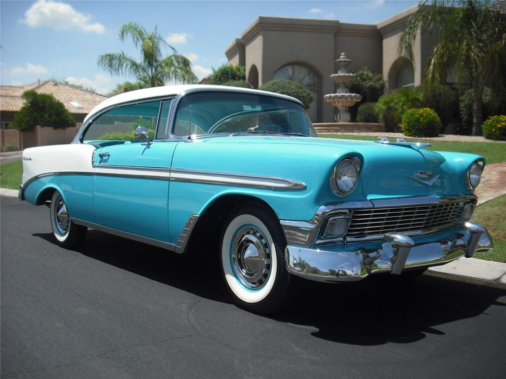 1956 chevrolet bel air 2 door hardtop 65872