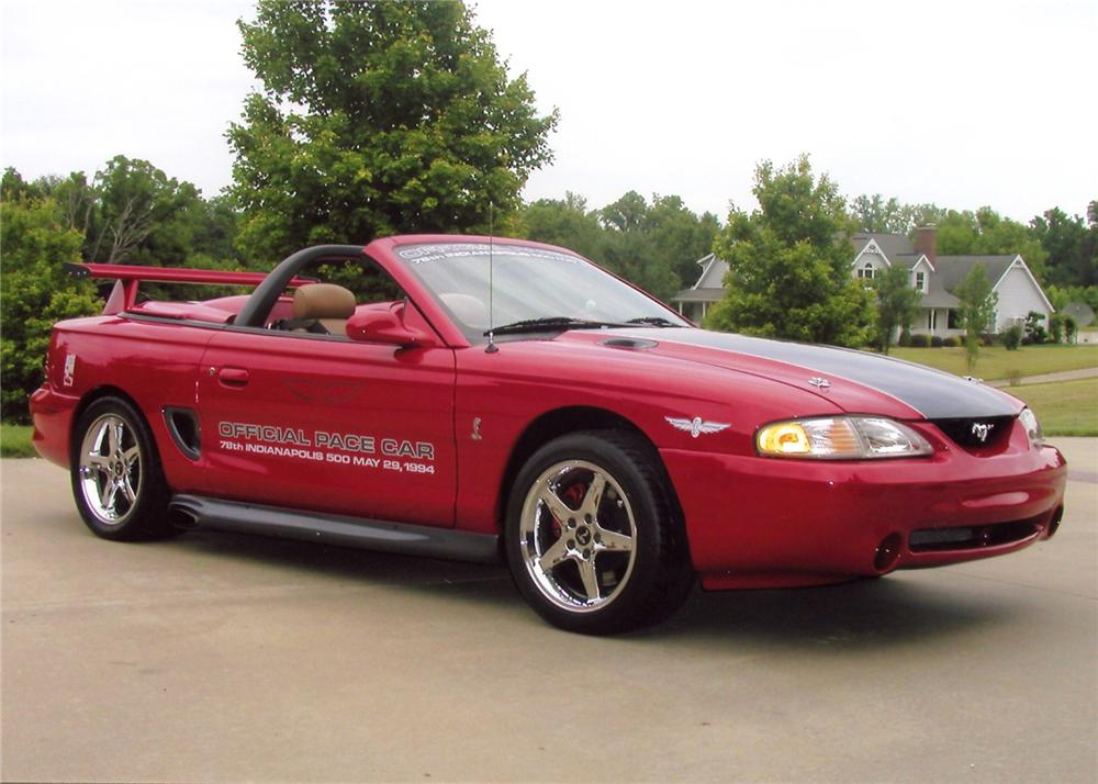1994 FORD MUSTANG COBRA CUSTOM PACE CAR CONVERTIBLE - Front 3/4 - 65880