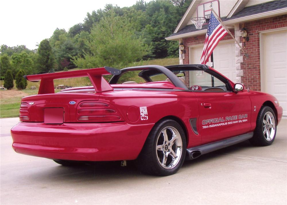 1994 Ford Mustang Cobra Custom Pace Car Convertible 65880