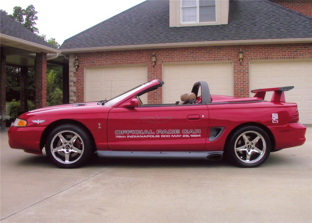 1994 FORD MUSTANG COBRA CUSTOM PACE CAR CONVERTIBLE - Side Profile - 65880