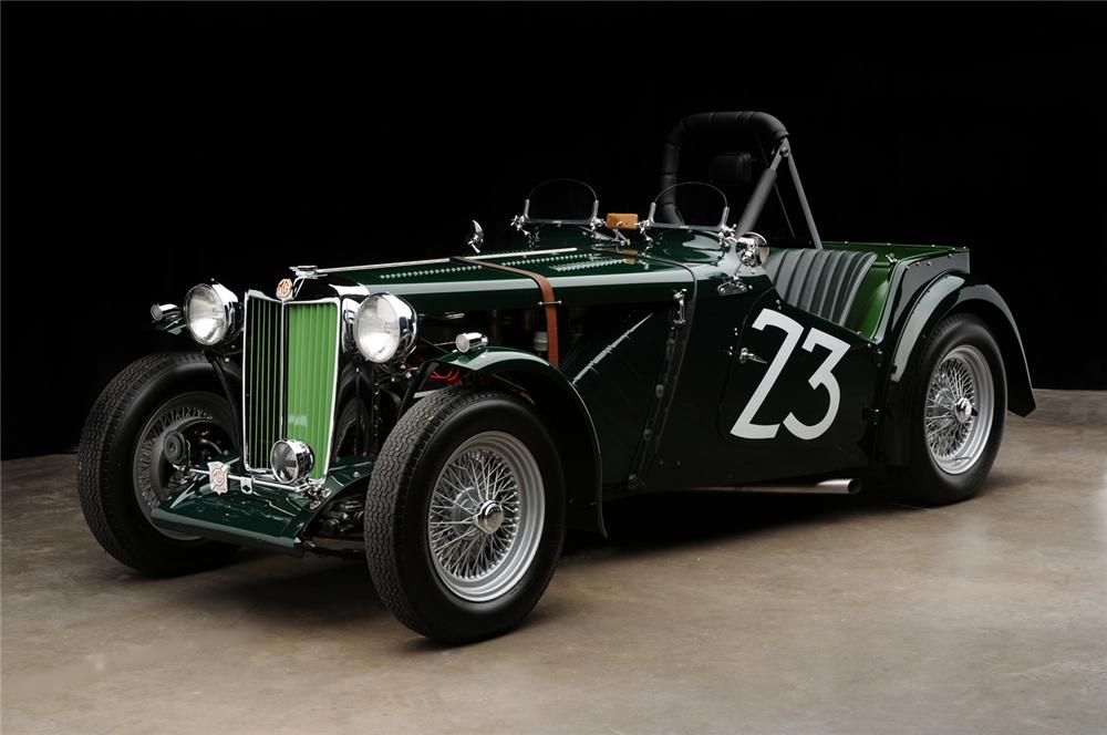 1949 MG TC ROADSTER RACE CAR - Front 3/4 - 65890