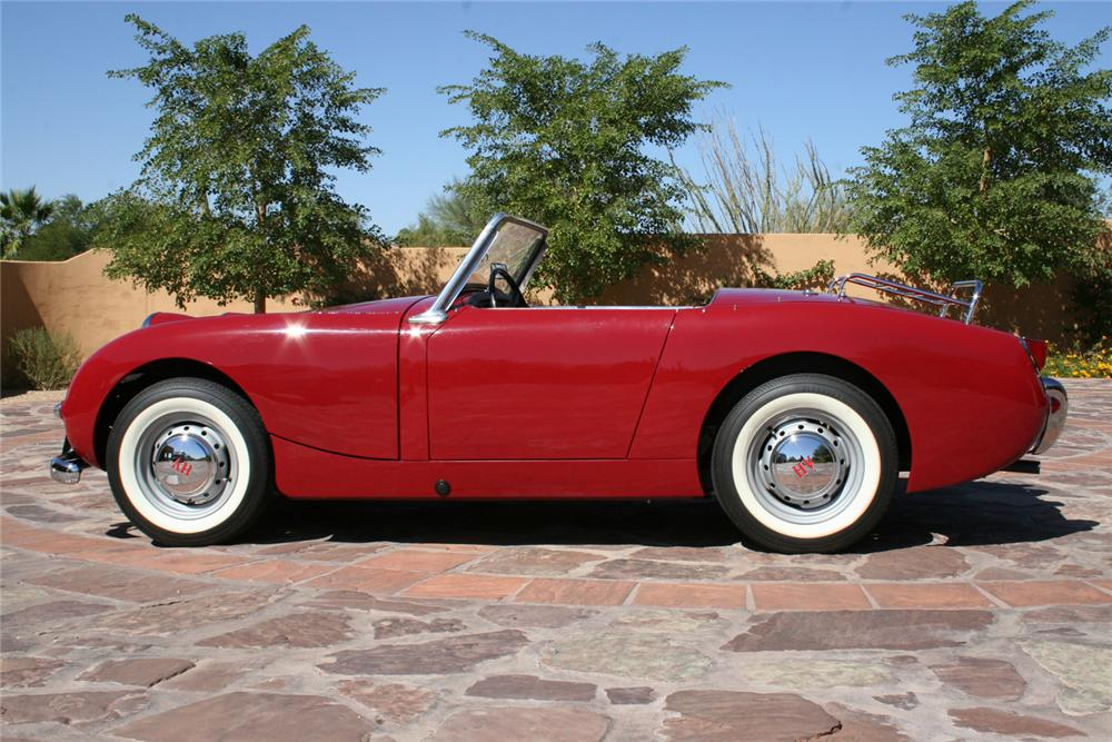 1958 AUSTIN-HEALEY SPRITE BUGEYE 2 DOOR CONVERTIBLE - Side Profile - 65893