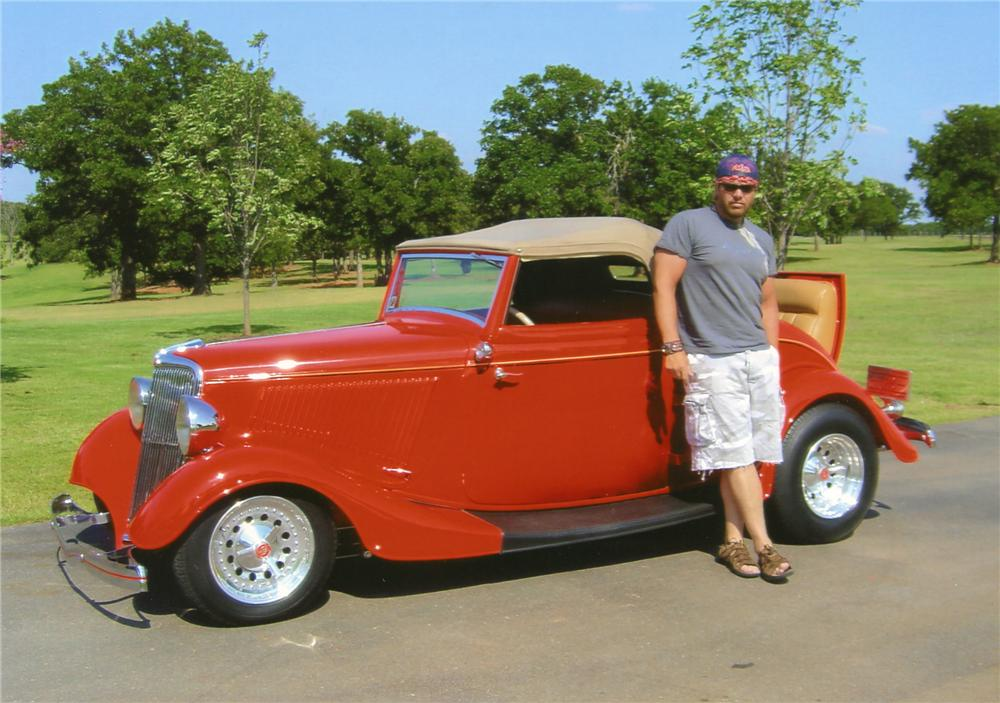 """1934 FORD CUSTOM 2 DOOR CABRIOLET """"TOBY KEITHS"""" - Front 3/4 - 65899"""