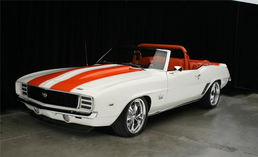 1969 Chevrolet Camaro Rs Ss Pace Car Convertible 65916