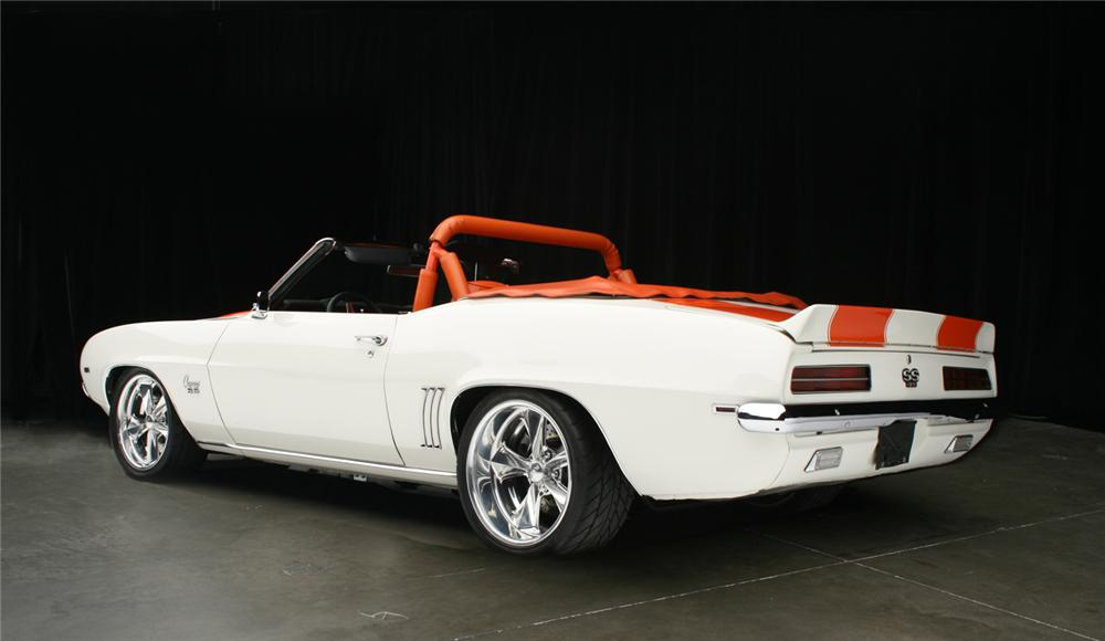1969 CHEVROLET CAMARO RS/SS PACE CAR CONVERTIBLE - Rear 3/4 - 65916