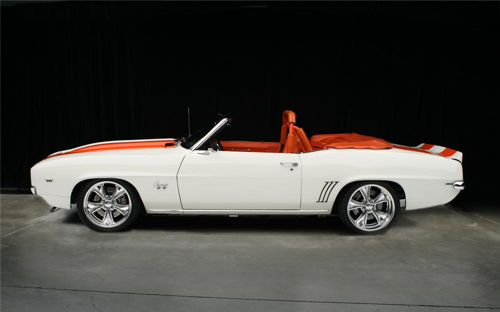 1969 CHEVROLET CAMARO RS/SS PACE CAR CONVERTIBLE - Side Profile - 65916
