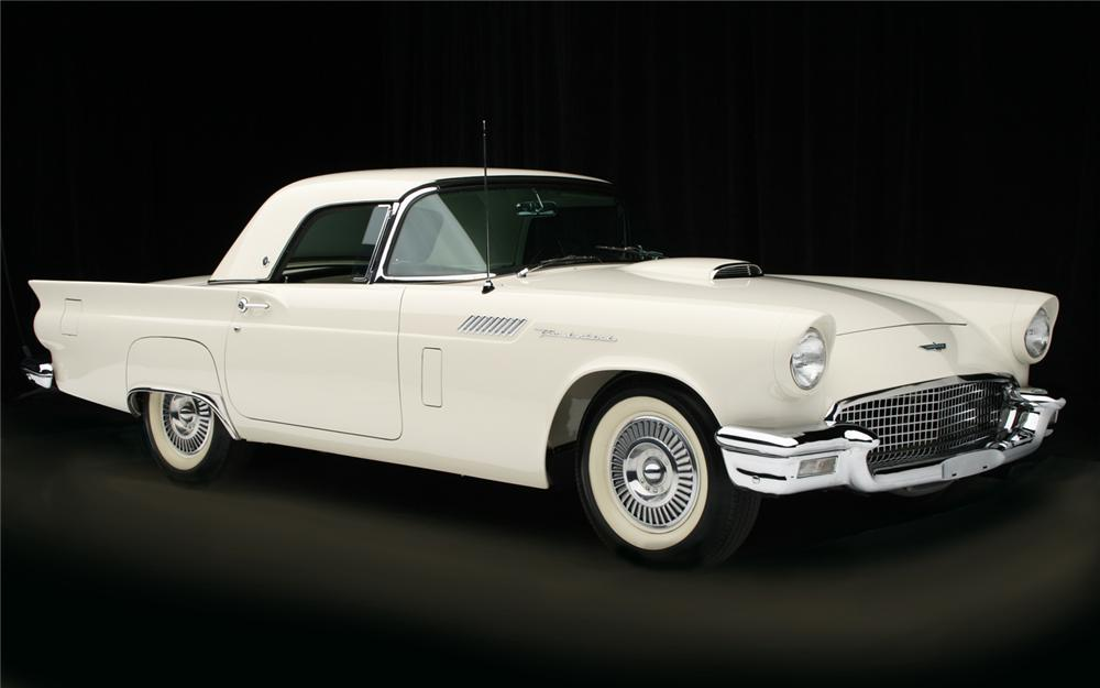 1957 FORD THUNDERBIRD F CONVERTIBLE - Front 3/4 - 65917