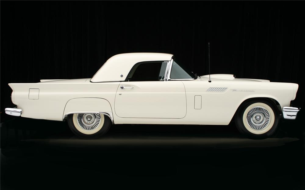 1957 FORD THUNDERBIRD F CONVERTIBLE - Side Profile - 65917
