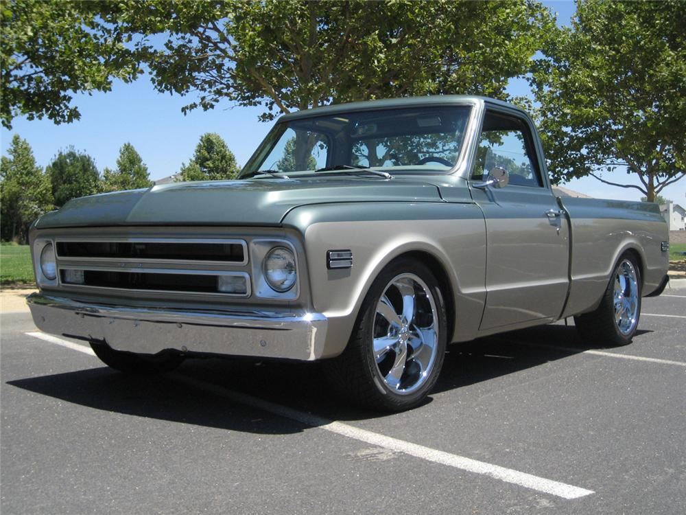 1969 CHEVROLET C-10 CUSTOM PICKUP - Front 3/4 - 65923