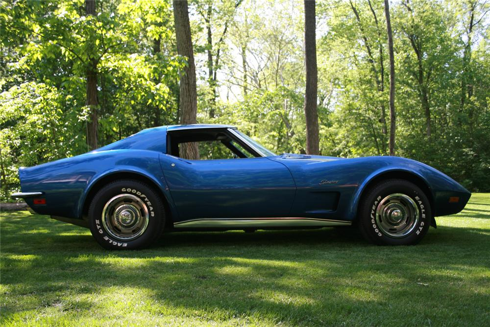 1973 CHEVROLET CORVETTE T-TOP - Side Profile - 65924