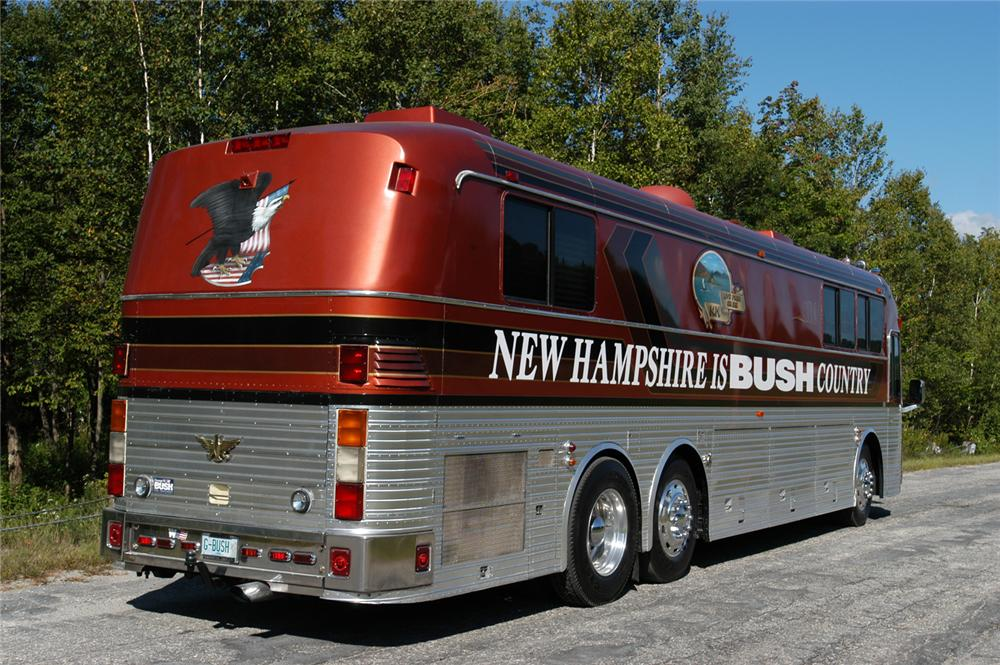 "1984 EAGLE MOTORCOACH ""GEORGE W. BUSH CAMPAIGN HQ"" - Rear 3/4 - 65949"