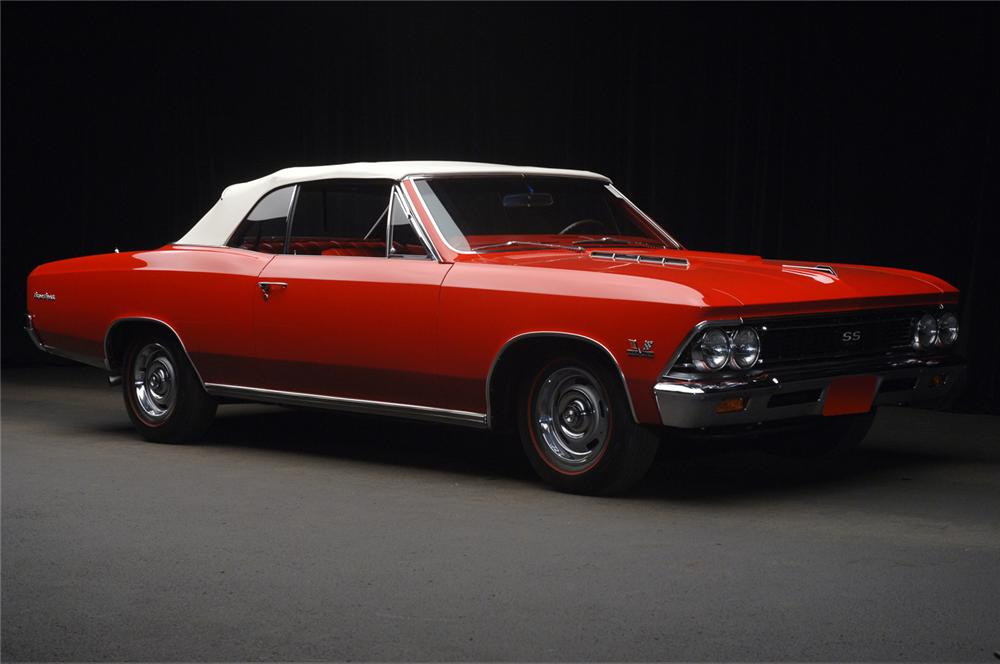 1966 CHEVROLET CHEVELLE SS 396 CONVERTIBLE - Front 3/4 - 65950