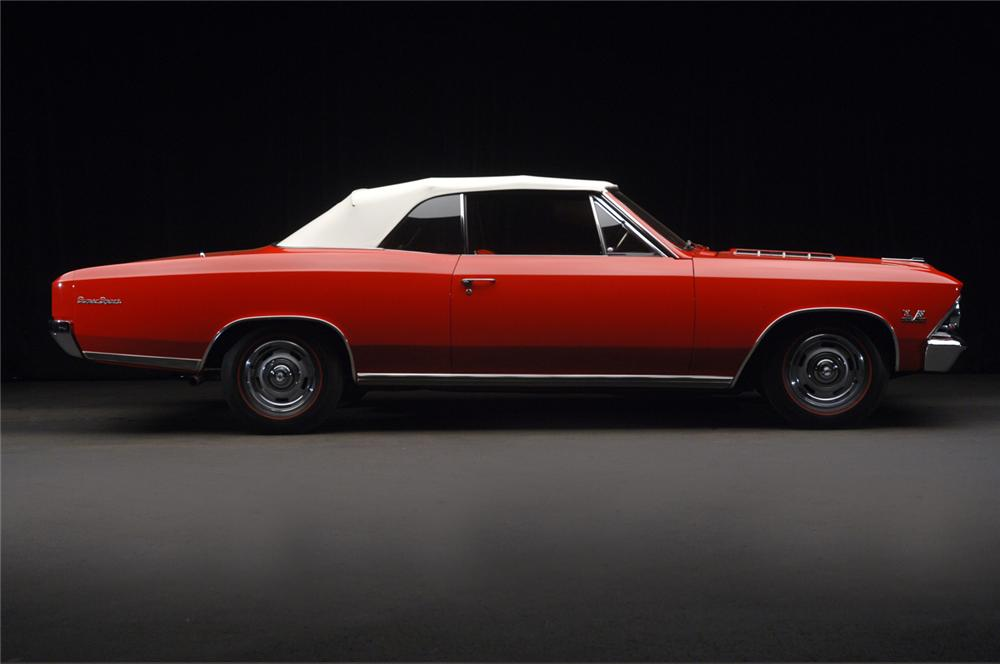 1966 CHEVROLET CHEVELLE SS 396 CONVERTIBLE - Side Profile - 65950