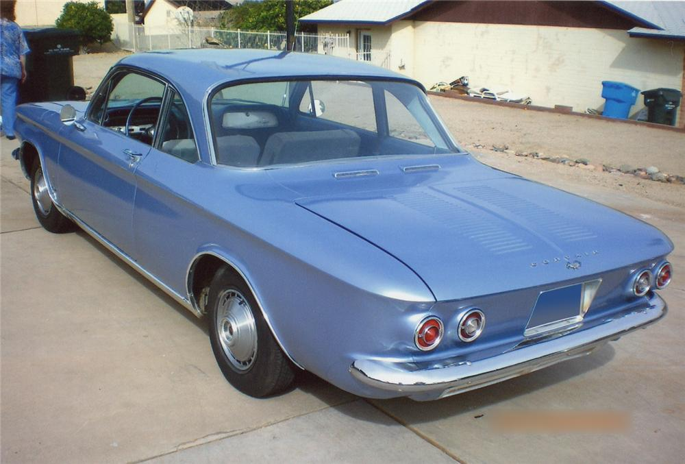 1964 CHEVROLET CORVAIR MONZA 2 DOOR SEDAN - Rear 3/4 - 65952