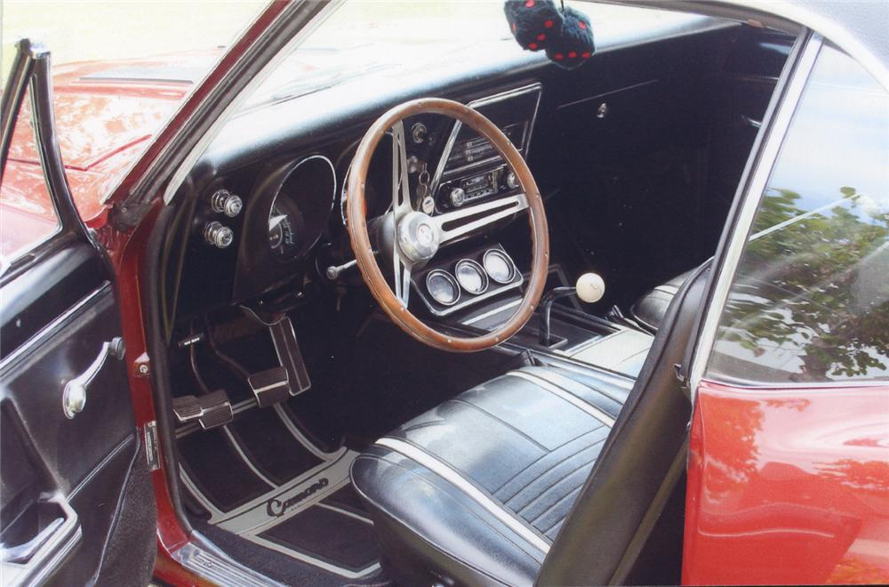 1967 CHEVROLET CAMARO RS/SS COUPE - Interior - 65953
