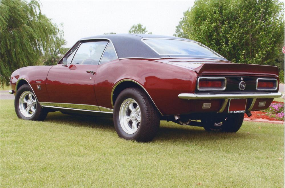 1967 CHEVROLET CAMARO RS/SS COUPE - Rear 3/4 - 65953