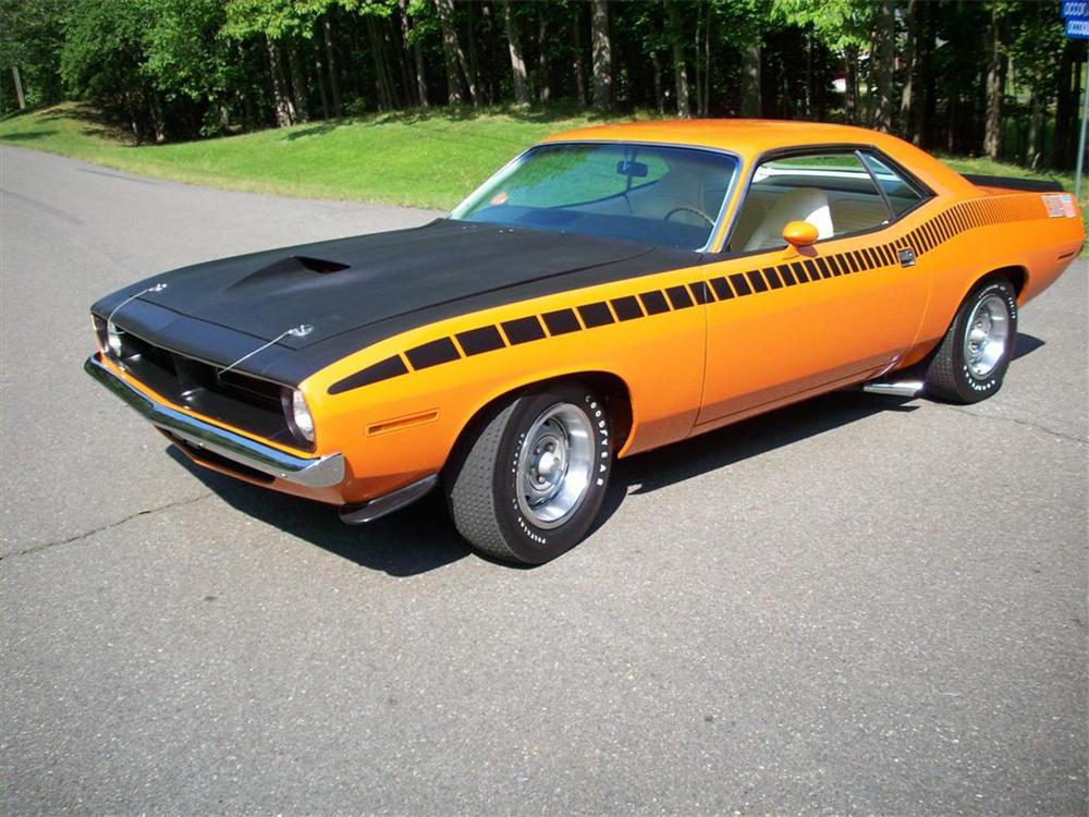 1970 PLYMOUTH CUDA AAR 2 DOOR COUPE - Front 3/4 - 65961