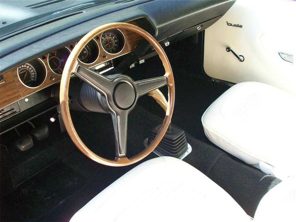 1970 PLYMOUTH CUDA AAR 2 DOOR COUPE - Interior - 65961