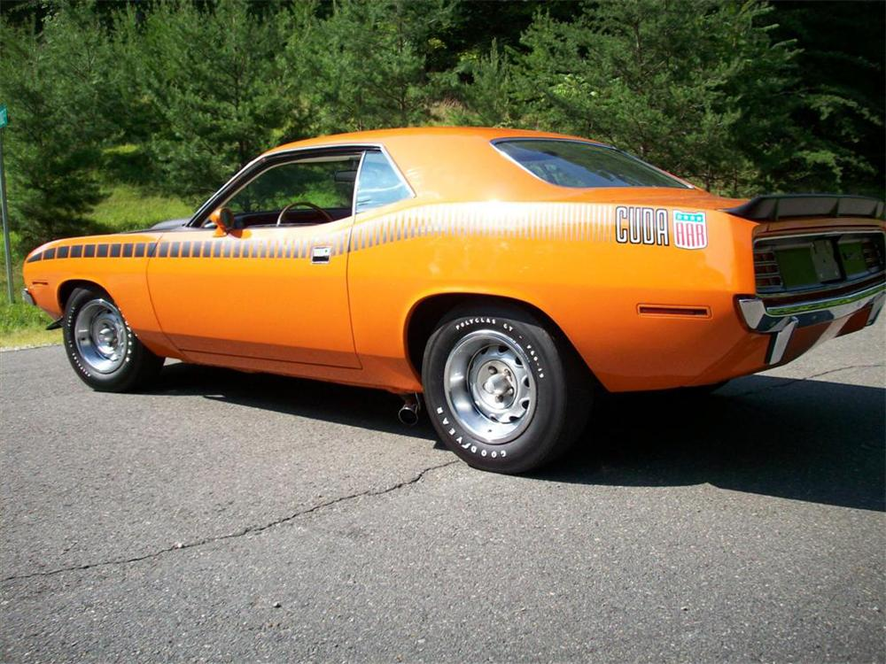 1970 PLYMOUTH CUDA AAR 2 DOOR COUPE - Rear 3/4 - 65961