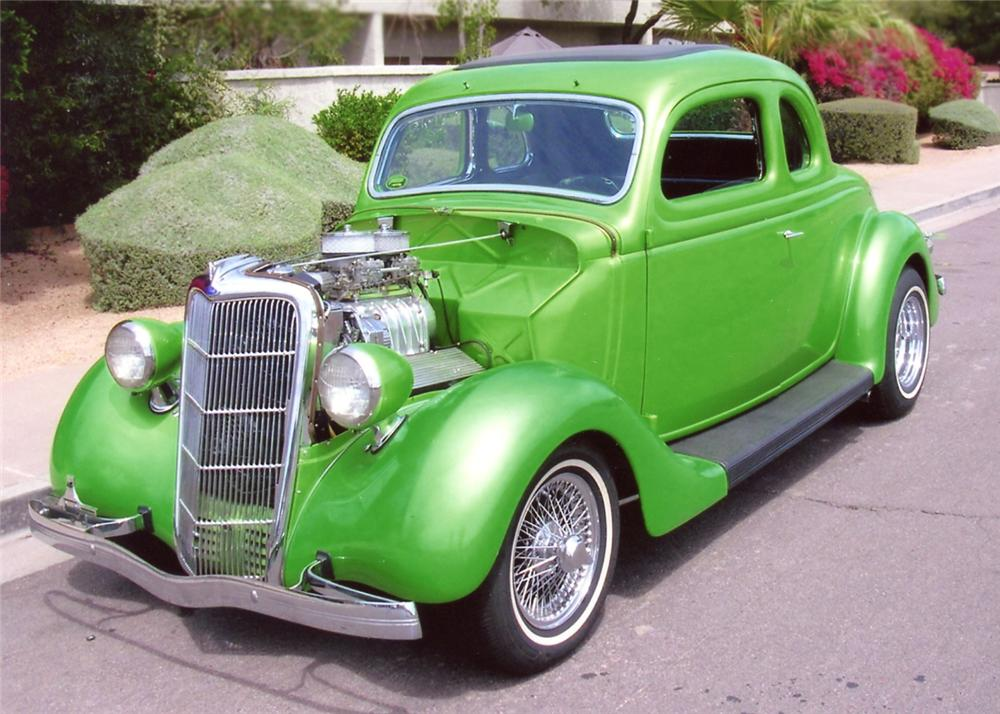 1935 FORD 5 WINDOW COUPE - Front 3/4 - 65970