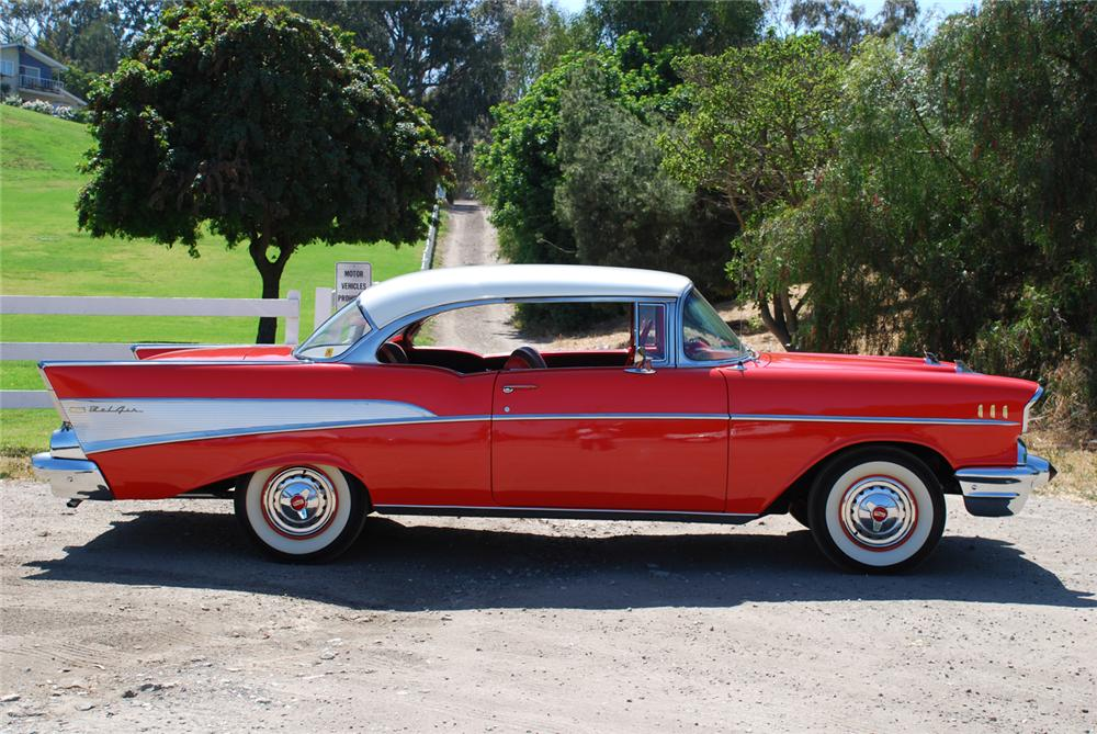 1957 chevrolet bel air 2 door hardtop 65985