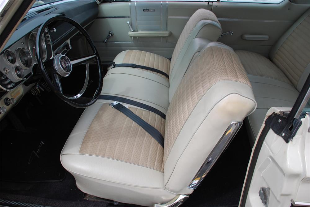 1963 PLYMOUTH FURY 2 DOOR HARDTOP - Interior - 65988