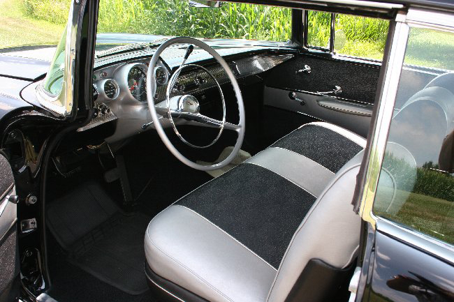 1957 CHEVROLET BEL AIR FI 2 DOOR HARDTOP - Interior - 66002