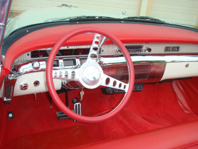 1956 BUICK ROADMASTER CONVERTIBLE - Interior - 66007
