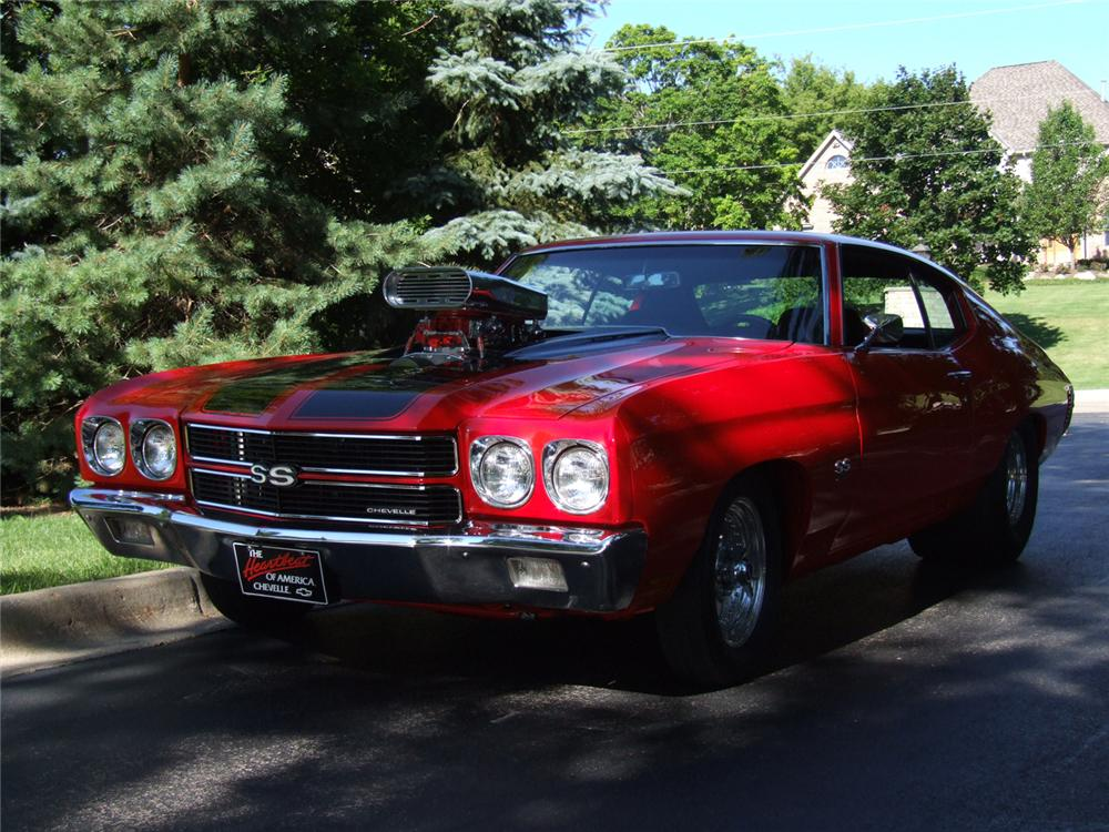 1970 CHEVROLET CHEVELLE SS 2 DOOR COUPE - Front 3/4 - 66009