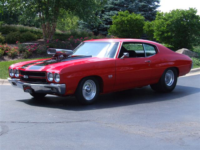1970 CHEVROLET CHEVELLE SS 2 DOOR COUPE - Side Profile - 66009
