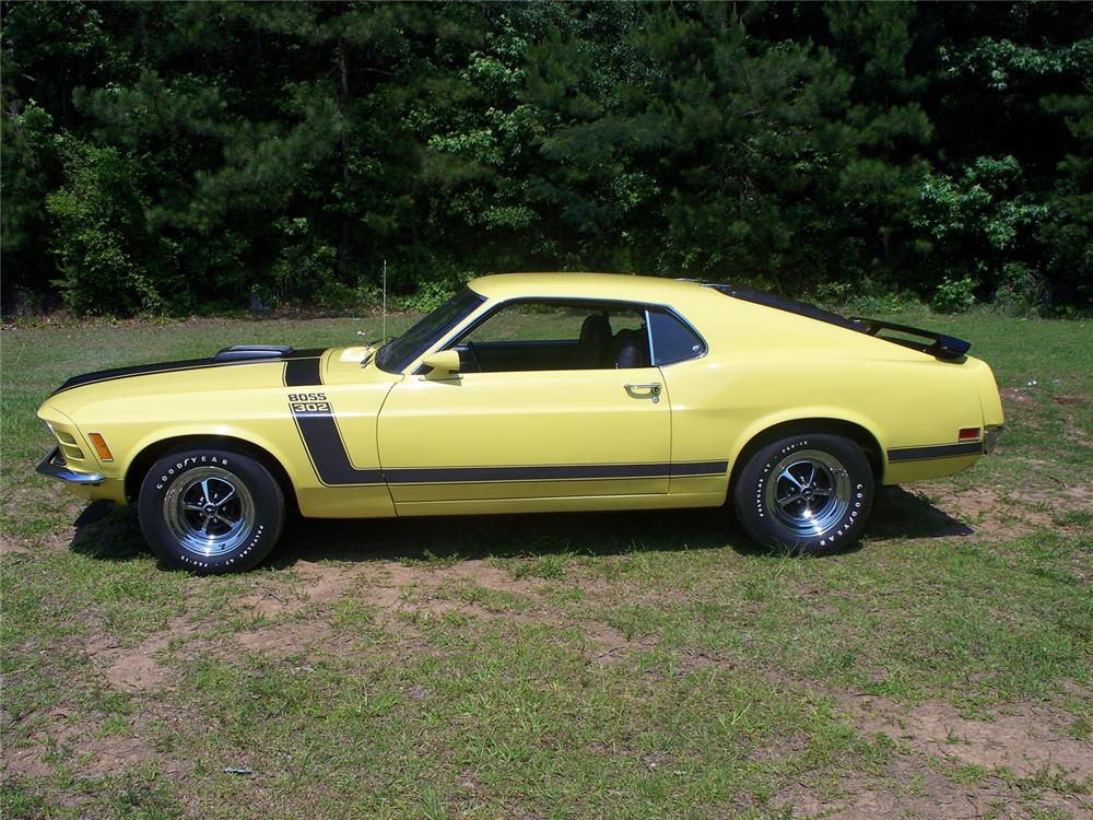 1970 FORD MUSTANG BOSS 302 FASTBACK - Side Profile - 66023
