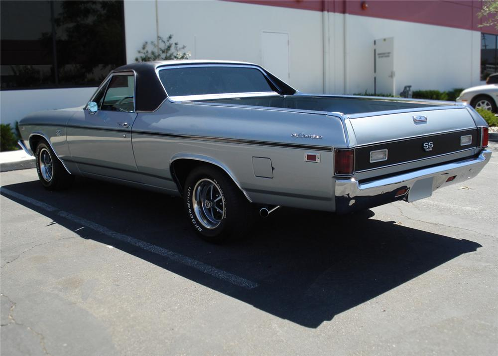 1969 CHEVROLET EL CAMINO SS PICKUP - Rear 3/4 - 66028