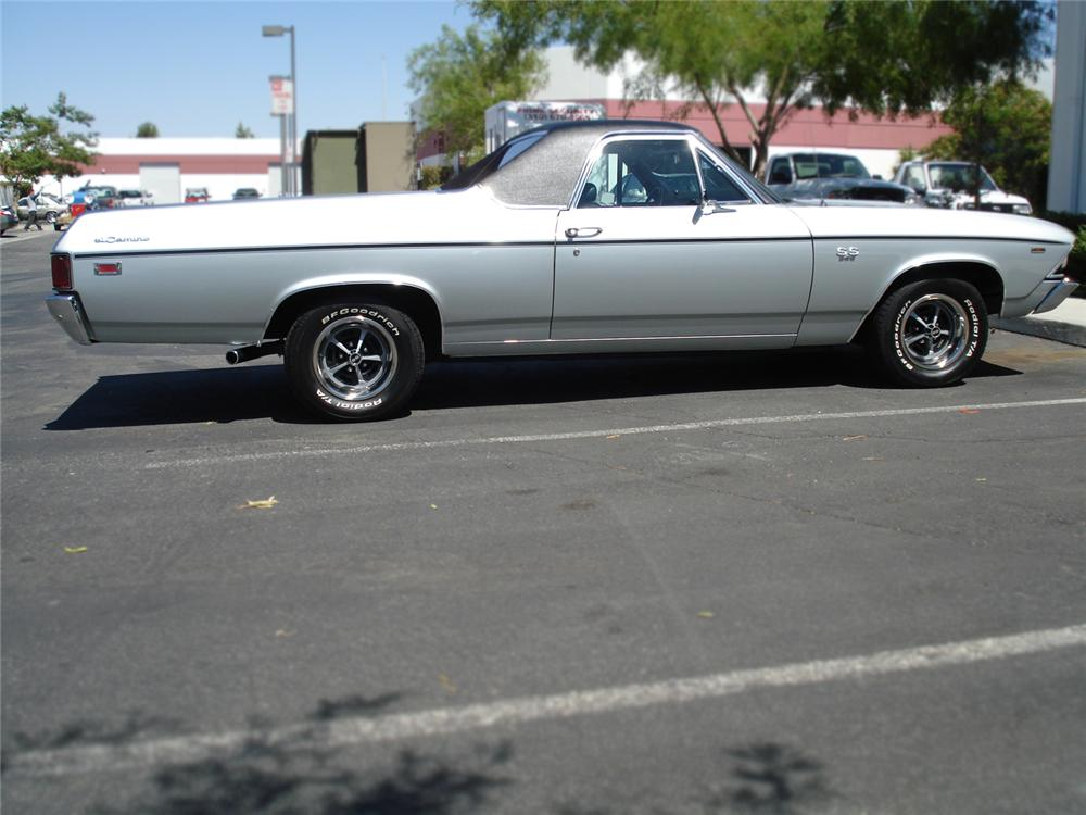 1969 CHEVROLET EL CAMINO SS PICKUP - Side Profile - 66028