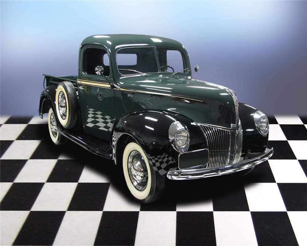 1940 FORD PICKUP - Front 3/4 - 66036
