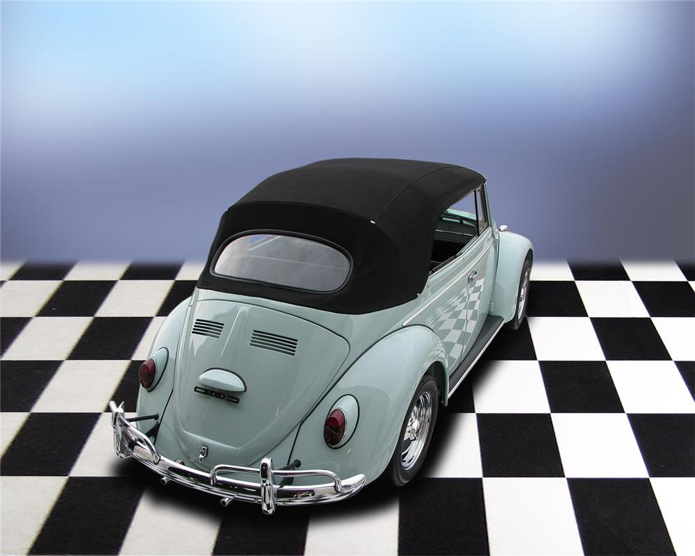 1965 VOLKSWAGEN BEETLE CONVERTIBLE - Rear 3/4 - 66038