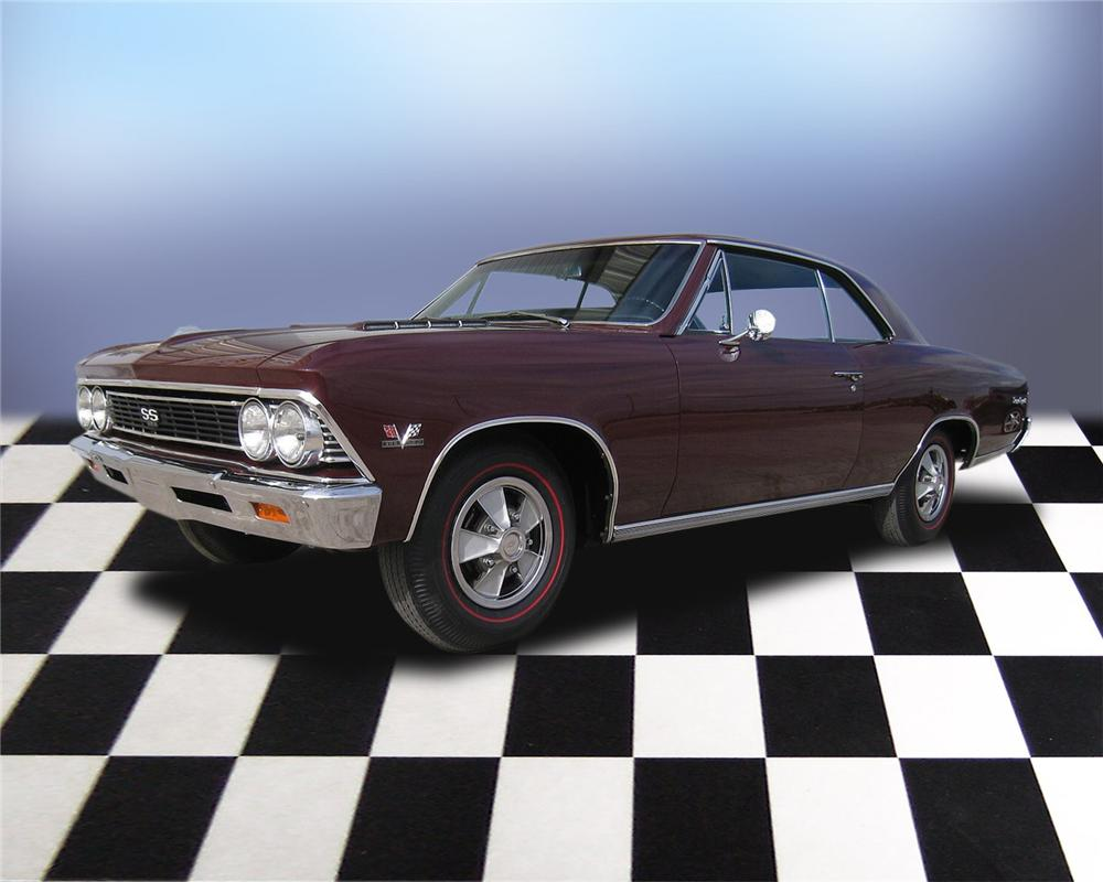 1966 CHEVROLET CHEVELLE SS 396 2 DOOR COUPE - Front 3/4 - 66039