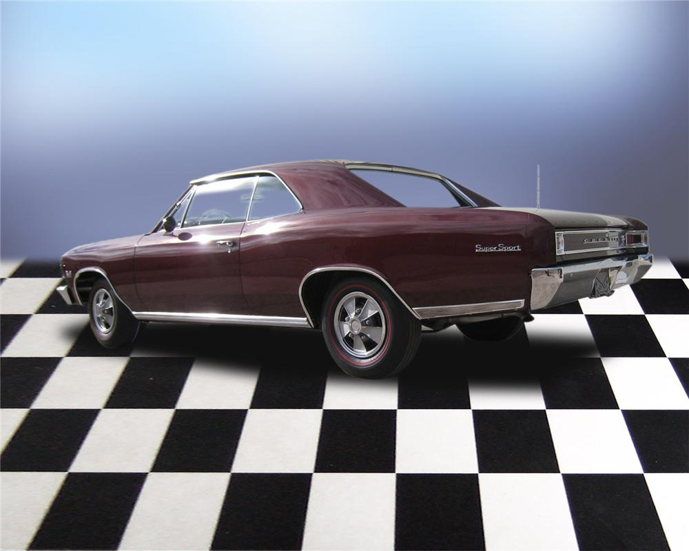 1966 CHEVROLET CHEVELLE SS 396 2 DOOR COUPE - Rear 3/4 - 66039