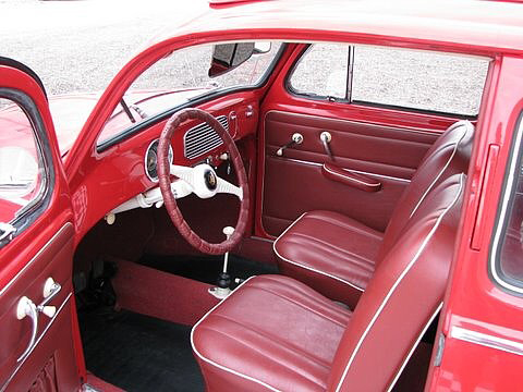 1955 VOLKSWAGEN BEETLE COUPE - Interior - 66046