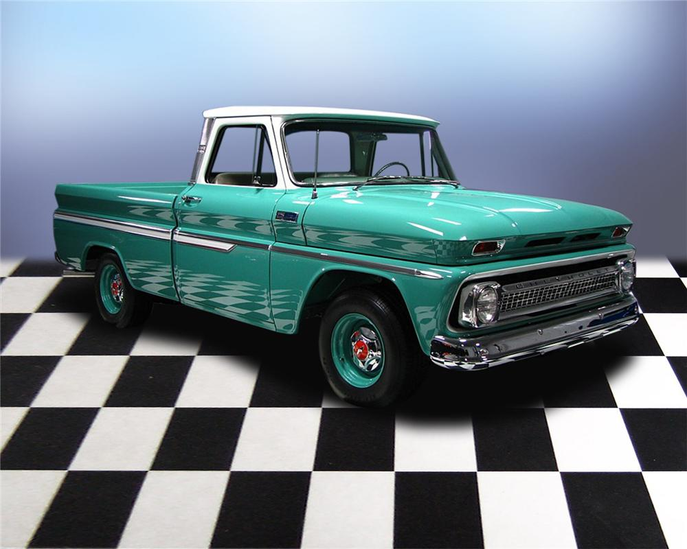1965 CHEVROLET C-10 SHORTBED PICKUP - Front 3/4 - 66047