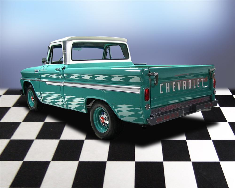 1965 CHEVROLET C-10 SHORTBED PICKUP - Rear 3/4 - 66047