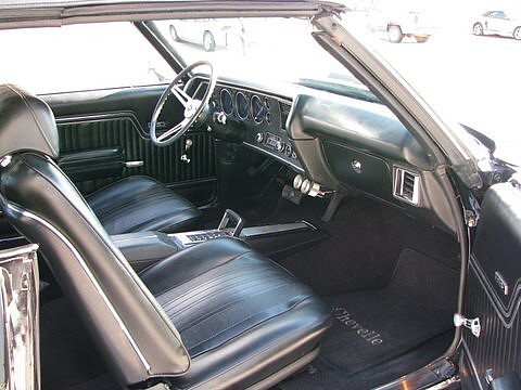 1970 CHEVROLET CHEVELLE MALIBU SS 2 DOOR CONVERTIBLE - Interior - 66048