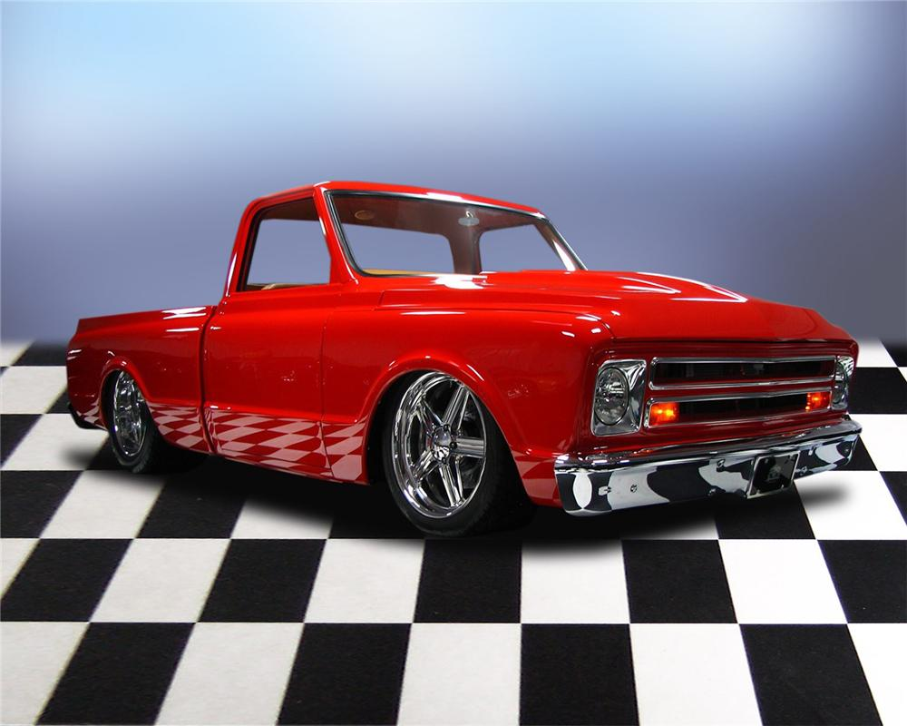 1970 CHEVROLET C-10 CUSTOM PICKUP - Front 3/4 - 66049