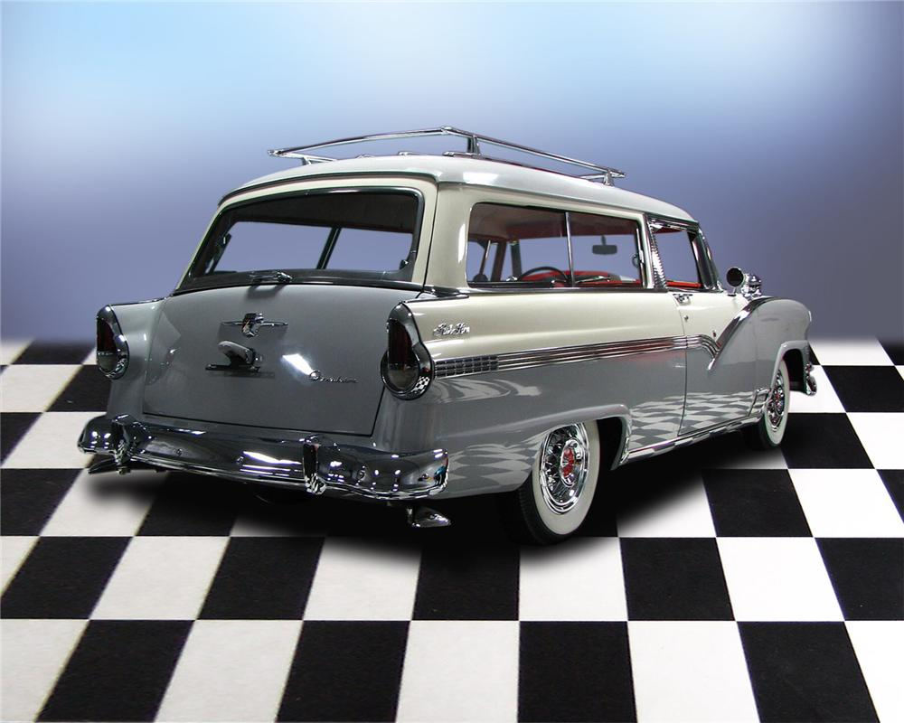 1956 FORD PARKLANE 2 DOOR STATION WAGON - Rear 3/4 - 66051