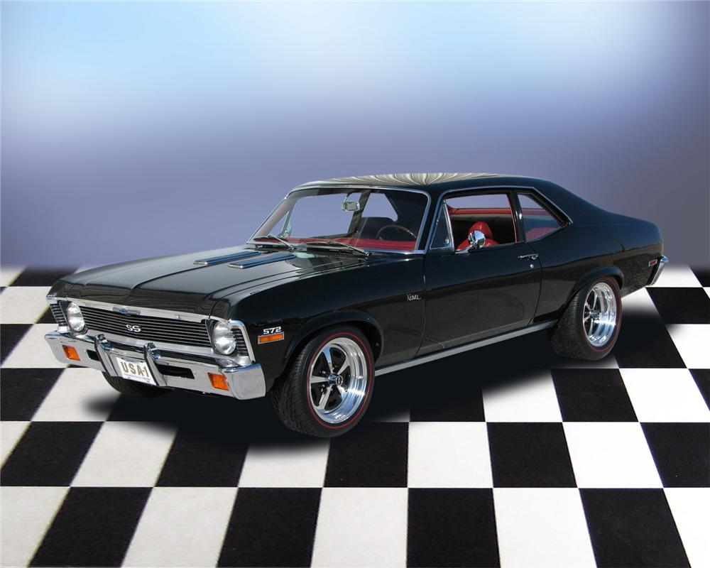 1972 CHEVROLET NOVA PRO-TOURING 2 DOOR COUPE - Front 3/4 - 66054