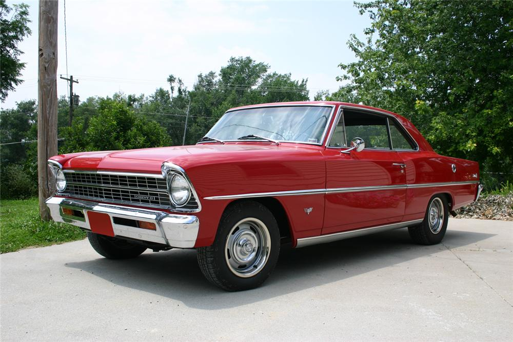 1967 CHEVROLET NOVA 2 DOOR SPORT COUPE - Front 3/4 - 66055