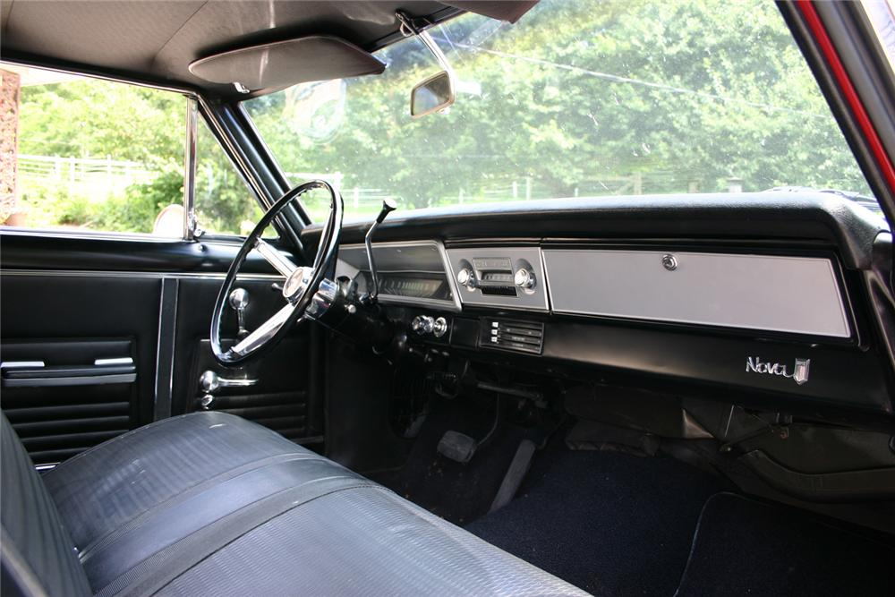 1967 CHEVROLET NOVA 2 DOOR SPORT COUPE - Interior - 66055