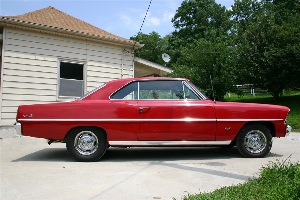 1967 CHEVROLET NOVA 2 DOOR SPORT COUPE - Side Profile - 66055