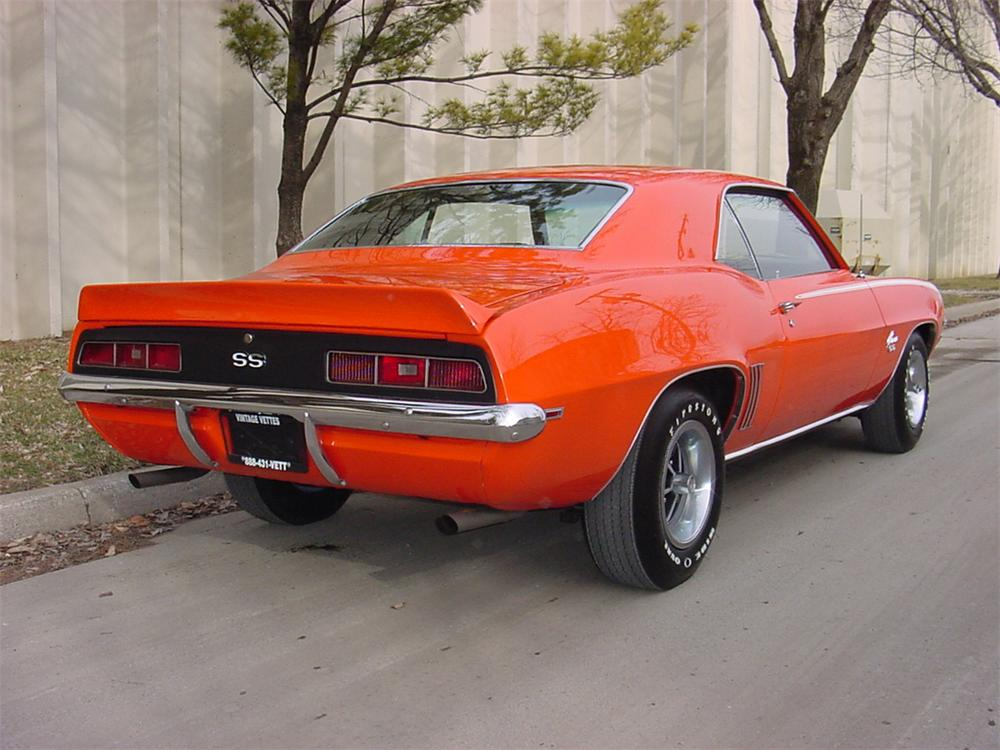 1969 CHEVROLET CAMARO SS COUPE - Rear 3/4 - 66061