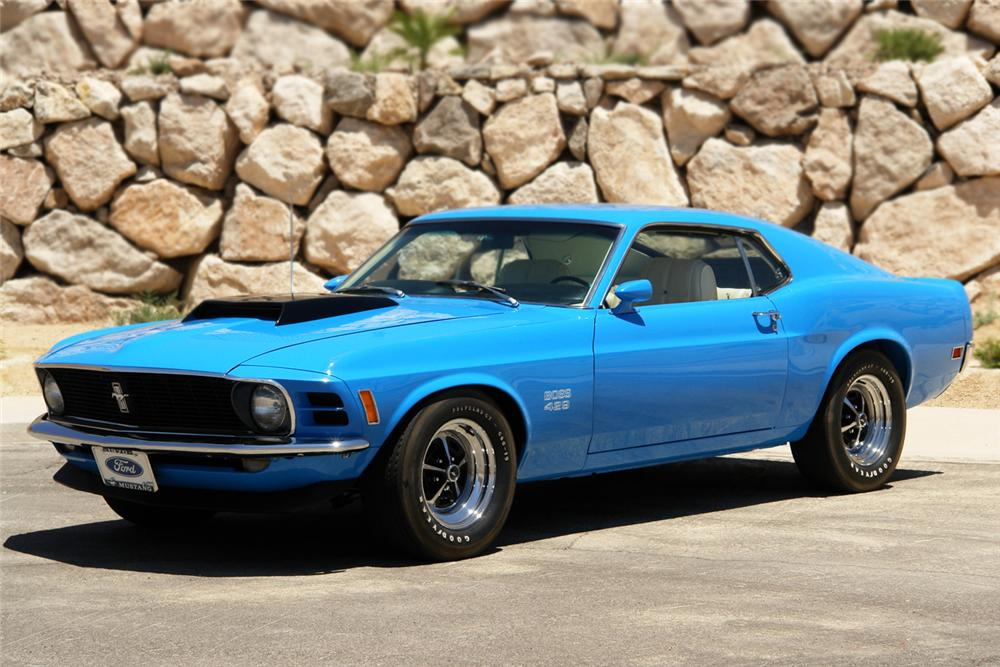 1970 FORD MUSTANG BOSS 429 FASTBACK - Front 3/4 - 66083