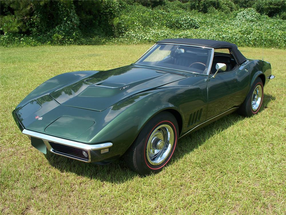 1968 CHEVROLET CORVETTE CONVERTIBLE - Front 3/4 - 66109